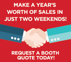 Make a year's worth of sales in two weekends